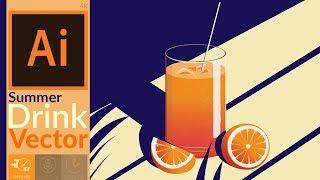 Cocktail Vector Artwork in adobe illustrator CC