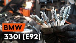 Hogyan cseréljünk Gyújtógyertya 3 Coupe (E92) - lépésről-lépésre videó útmutató