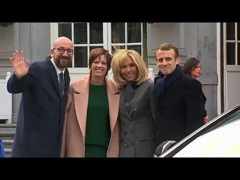 Macron na Bélgica com a Europa no coração