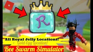 Roblox Bee Swarm Simulator: ALL ROYAL JELLY LOCATIONS + GOLD EGG