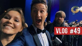 A GQ-WORTHY MIDNIGHT BLUE TUXEDO || GQ Germany Awards with Sami Slimani