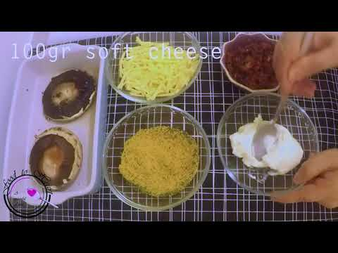 Stuffed Portobello Mushrooms  Sundried Tomato & Soft Cheese