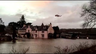 Flooding at Maryculter, Aberdeen. #StormFrank.