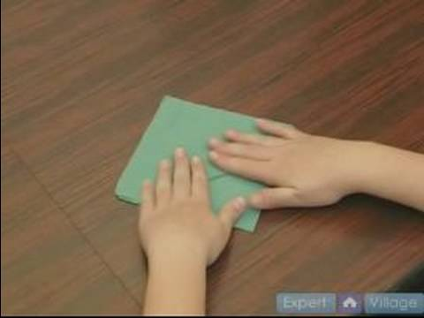 How to Fold Napkins : How to Make a Fancy Fold in a Napkin