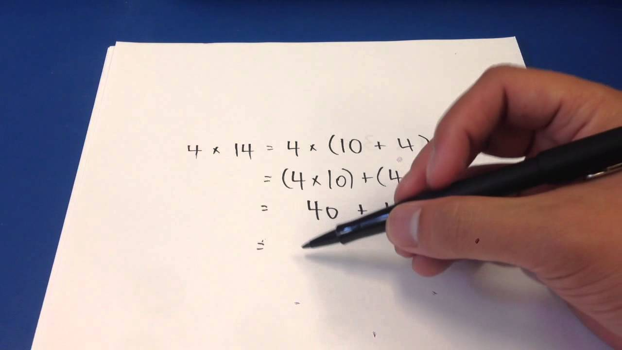 fourth grade - using distributive property to multiply whol - YouTube [ 720 x 1280 Pixel ]