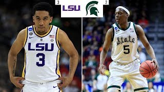 Preview: No. 2 Michigan State vs No. 3 LSU in Sweet 16 of NCAA tournament