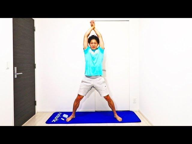 【10分】二の腕脂肪燃焼!自宅で道具なしの筋トレ有酸素運動!