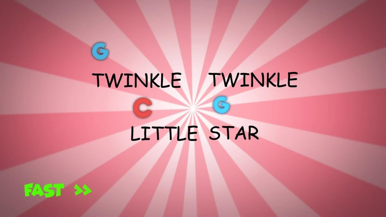 Twinkle Twinkle Little Star Guitar Chords Sheet Music With Singing