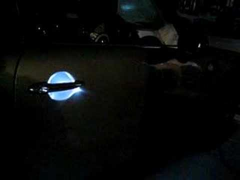 LED\'s in door handle on MINI - YouTube
