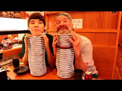 Sushi In Japan Vs. Sushi USA - (Kura Zushi Chain Restaurant) - Eric Meal Time #574