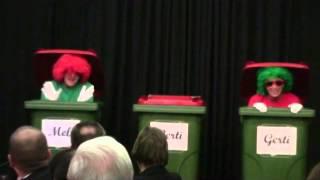 Jubilarefest 2014, Muppets, Manamana, Mülltonnen