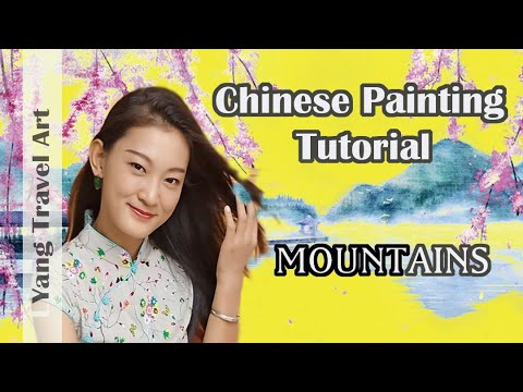 Chinese Painting Tutorial – Autumn Landscape (Class Demo)