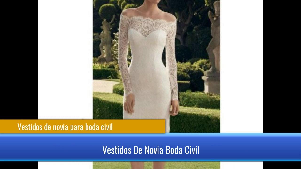 d2e90f0c3 Vestidos de novia para boda civil - YouTube