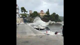 """Grecia, tre dispersi nel violento passaggio della tempesta """"Zorba"""""""