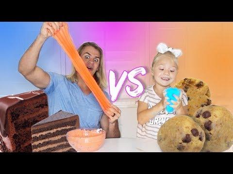 ULTIMATE COOKIE SLIME VS CAKE SLIME! (Adults VS Kids)
