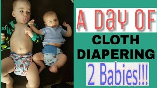 A Day Of Cloth Diapering 2 Babies | An Average Day!