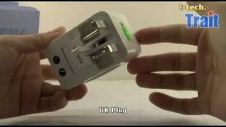 All in one Travel Power Plug Adapter, USA, UK, EUR Plug, AU Plug at trait-tech.com