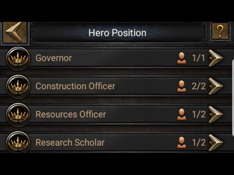 Clash Of Kings, The BreakDown Of The New Hero Position And Appointing The Hero's