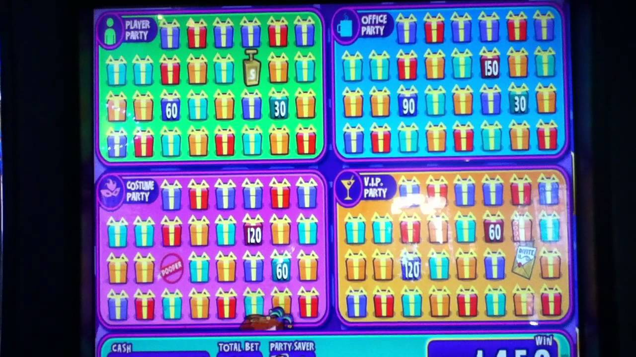 Super block party slot machine