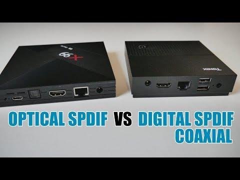 ANDROID TV BOX - OPTICAL SPIDF VS 3 5MM DIGITAL SPDIF COAXIAL