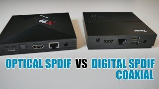 ANDROID TV BOX - OPTICAL SPIDF VS 3.5MM DIGITAL SPDIF COAXIAL