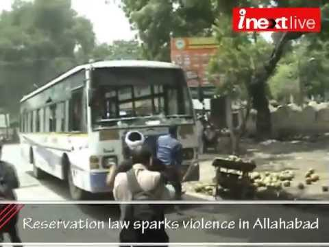 Reservation law sparks violence in Allahabad