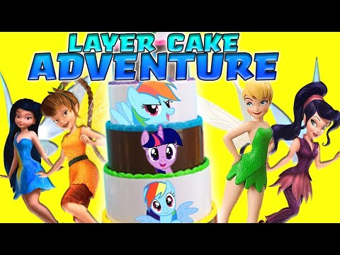 Disney Fairies & My Little Pony Layer Cake Game! W/ Tinkerbell, Silvermist & Pinkie Pie