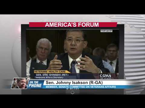 Sen.  Johnny Isakson a member of the  Senate Committee on Veterans Affairs