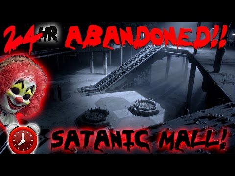 24 HOUR OVERNIGHT CHALLENGE AT SCARY ABANDONED LUXURY MALL /