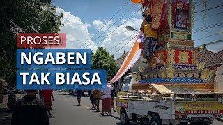 Prosesi Upacara Ngaben di Bali Tidak Seperti Biasanya, Upaya Jalankan Sosial Distancing
