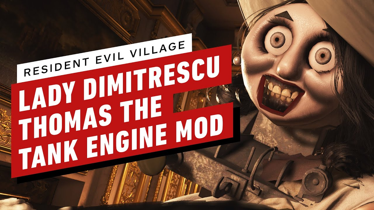 Resident Evil Village: Lady Dimitrescu Thomas the Tank Engine Mod Gameplay