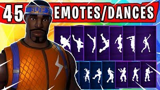 "Fortnite ""HYPERION"" SKIN Showcased with 45 Dances/Emotes 