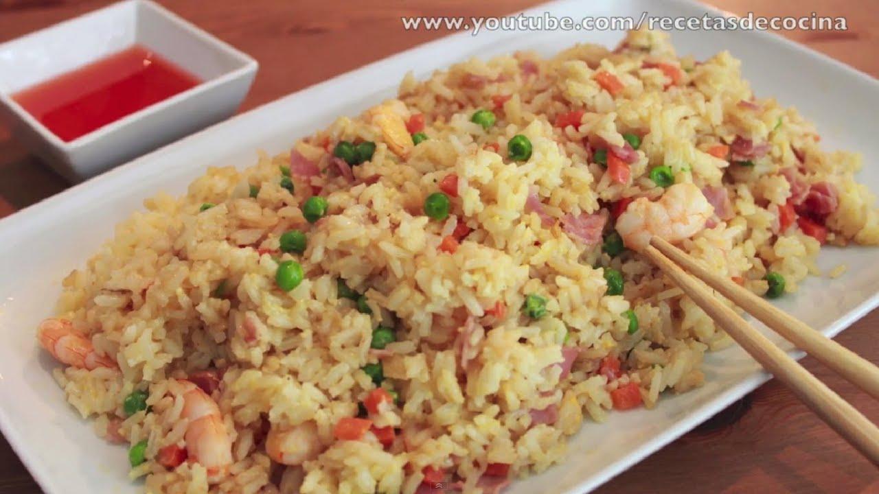 Arroz chino frito c mo hacer arroz tres delicias viyoutube - Como hacer pimientos verdes fritos ...