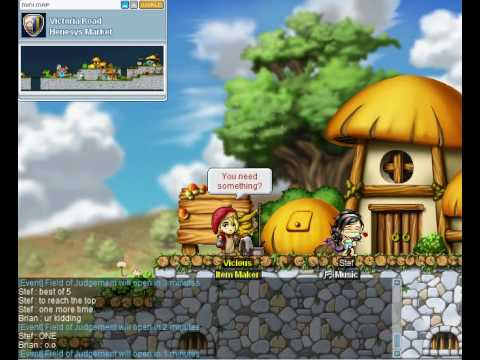Maplestory Getting on top of Henesys Roof