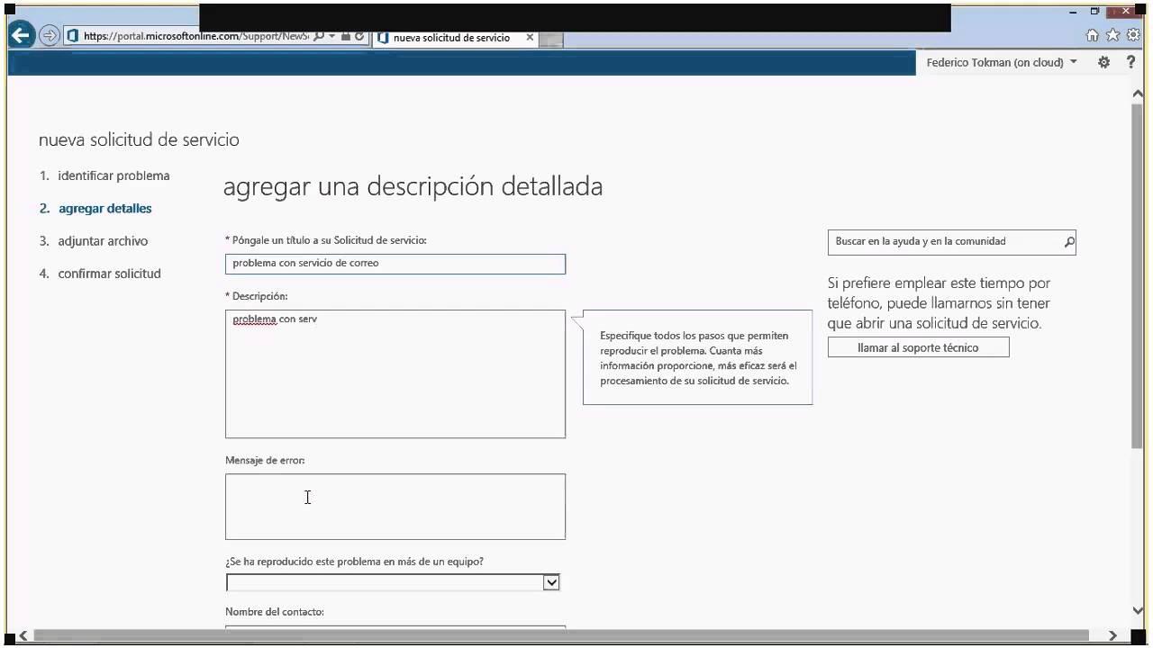 Office 365: Cómo crear un incidente de soporte técnico - YouTube