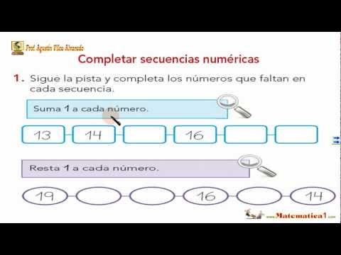 Seriaciones y Patrones Numéricos-Matemáticas Niños 5 ó 6 ó 7 años ...