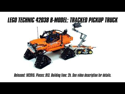 'Lego Technic 42038 B-model: Tracked Pickup Truck' Speed Build & Review | Sariel's LEGO Technic Den