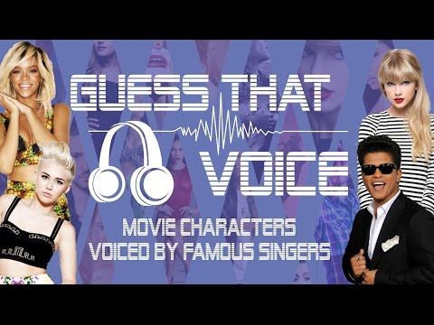 Guess That Singer's Voice Challenge (animated films edition)