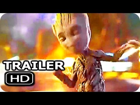 "GUARDIANS OF THE GALAXY 2 ""Dancing Baby Groot"" Trailer (2017) Chris Pratt Action Movie HD"