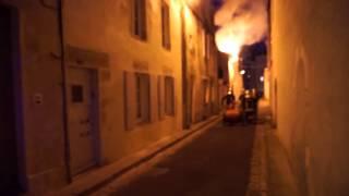 Incendie rue des Marionnettes à La Rochelle (19 juillet 2013)