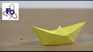 Propulsar un barco de papel