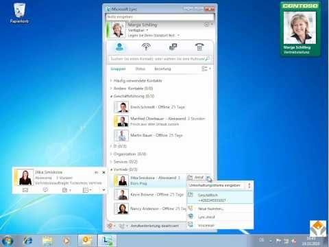 DemoVideo zu Microsoft Lync 2010