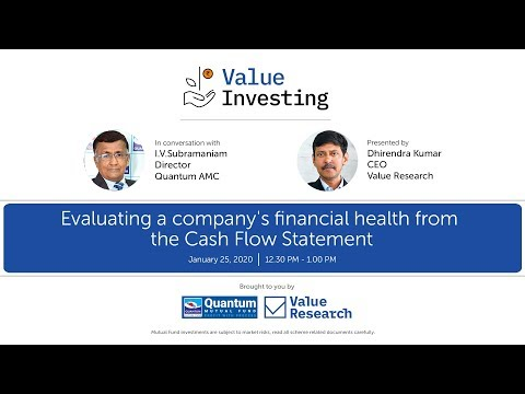 Evaluating a company's financial health from the Cash Flow Statement