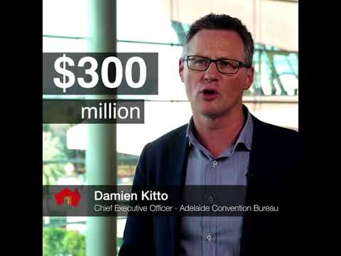 • The Adelaide Convention Centre's $397 million redevelopment is now complete (0:28)