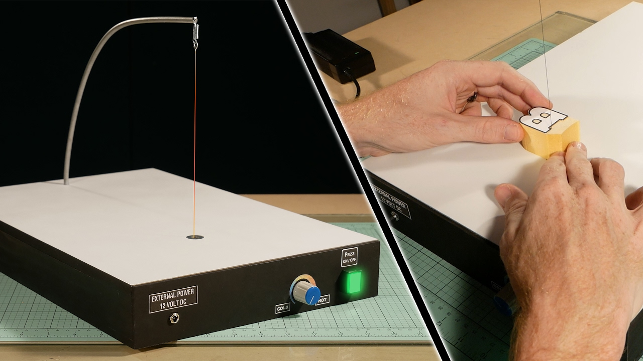 build your own hot wire foam cutter professional tools for modelers youtube [ 1280 x 720 Pixel ]