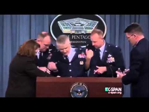 Air Force Major General James Martin Jr FAINTS during press briefing about US Airforce budget!