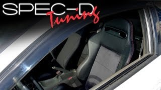 SPECDTUNING INSTALLATION VIDEO: Spec-D UNIVERSAL RACING SEAT