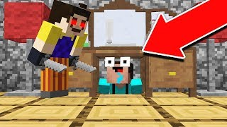 INTENSE MINECRAFT HELLO NEIGHBOR ESCAPE!