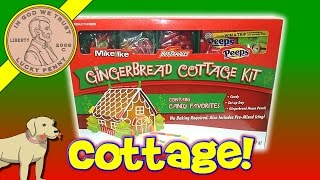 Gingerbread Cottage Kit Mike & Ike Hot Tamales & Peeps Candy Decorating With Butch & Elfie!