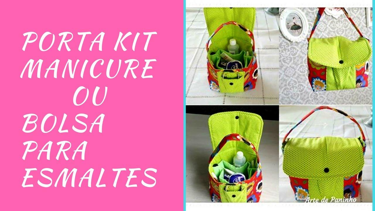 Bolsa Manicure Passo A Passo : Porta kit manicure bolsa para esmaltes
